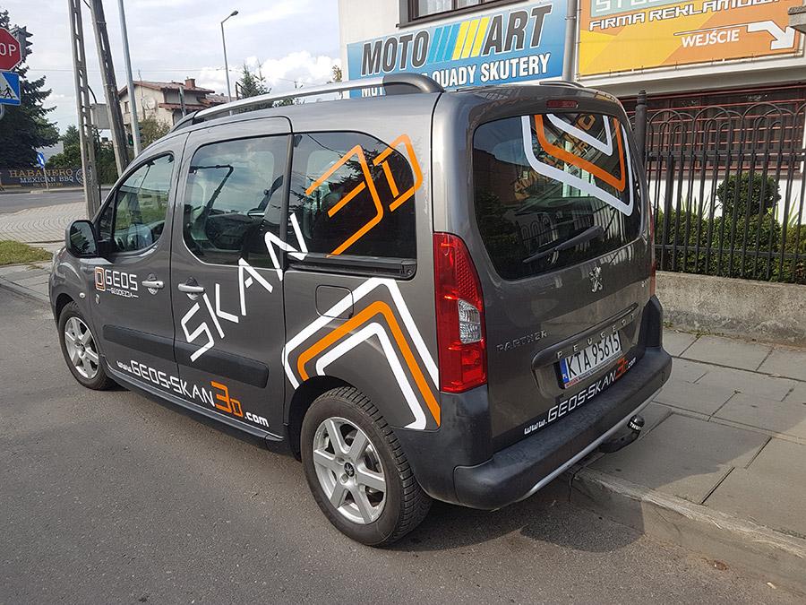 oklejenie auta (samochodu) dla firmy GEOS Tarnów