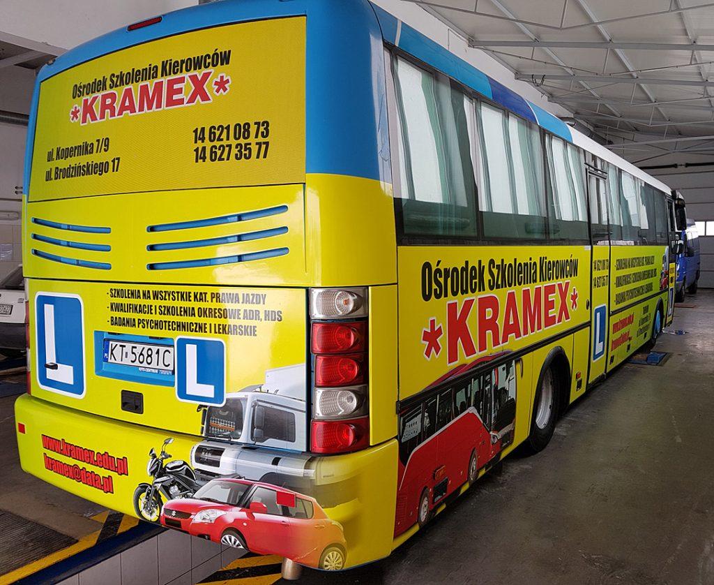 drukarnia tarnów - oklejanie autobusów