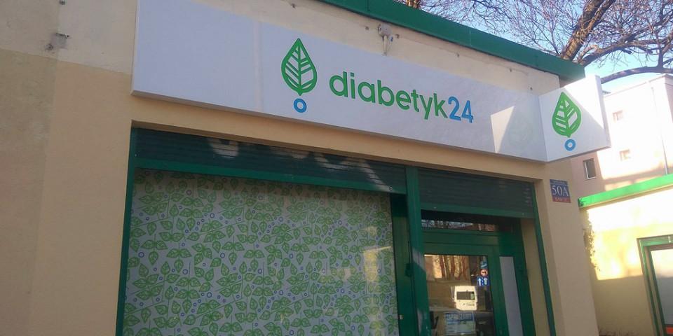 Plafony reklamowe z dibondu dla Diabetyk24
