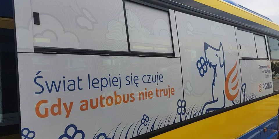 Oklejenie autobusów dla PGNiG.
