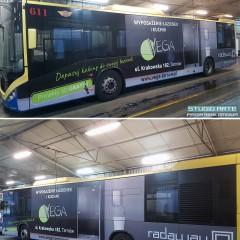 Oklejenie autobusu miejskiego.