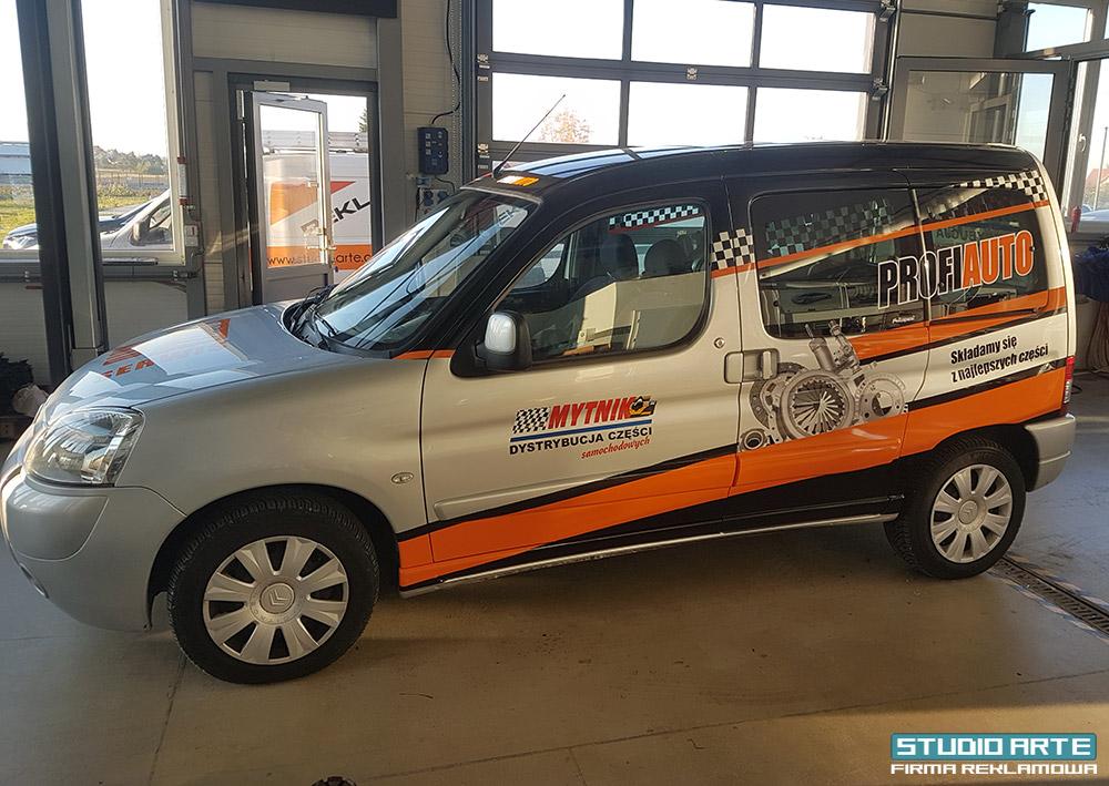 Oklejanie samochodu Citroen dla firmy Mytnik Profi Auto