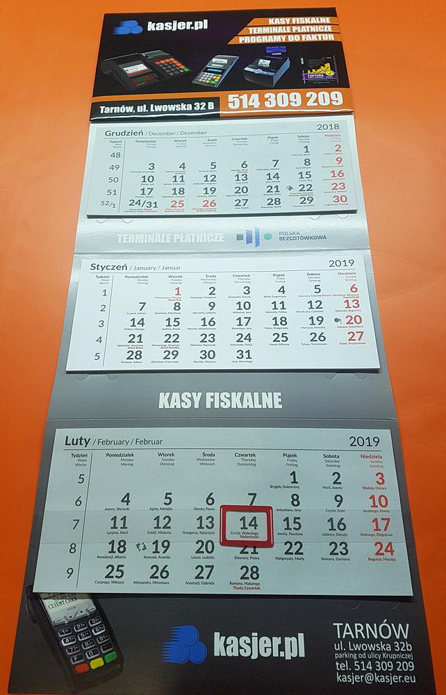 kalendarze trójdzielne drukarnia tarnów