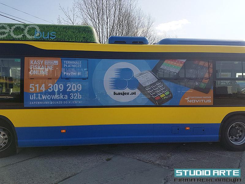 folia sitodruk na szyby oraz autobusy