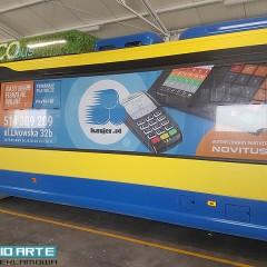 Oklejenie autobusu dla Kasjer.pl