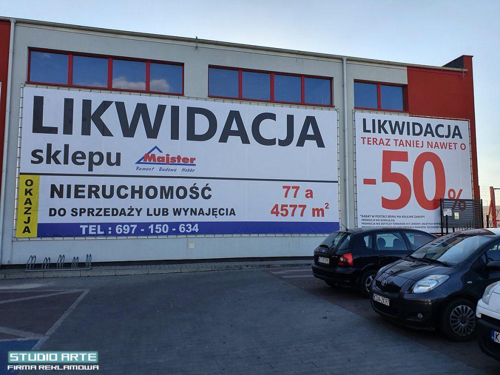 montaż banerów, reklam Tarnów