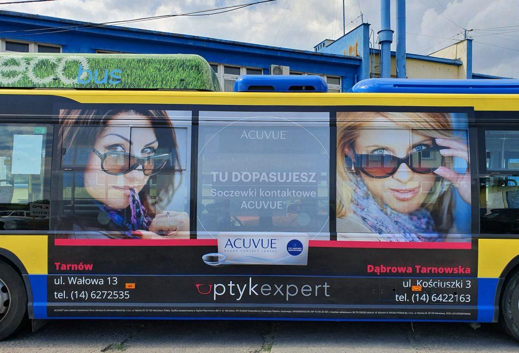 oklejanie autobusu dla optyk expert