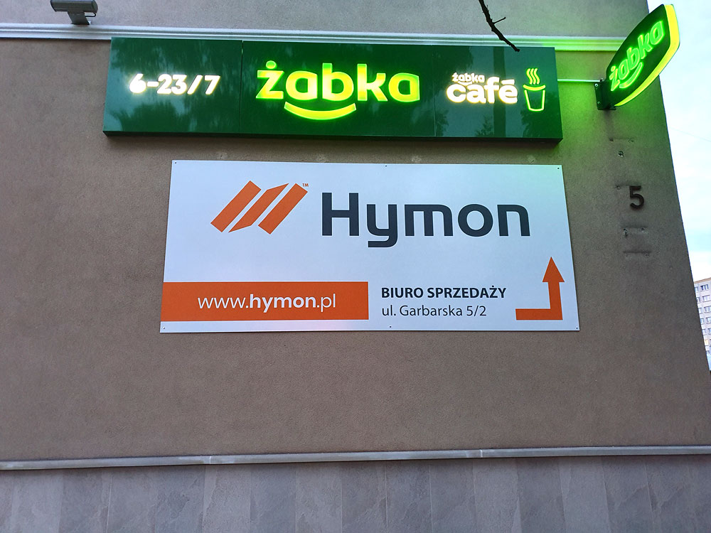 Szyld z dibondu dla firmy Hymon Tarnów