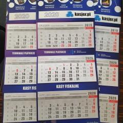 Kalendarze trójdzielne dla Kasjer.pl