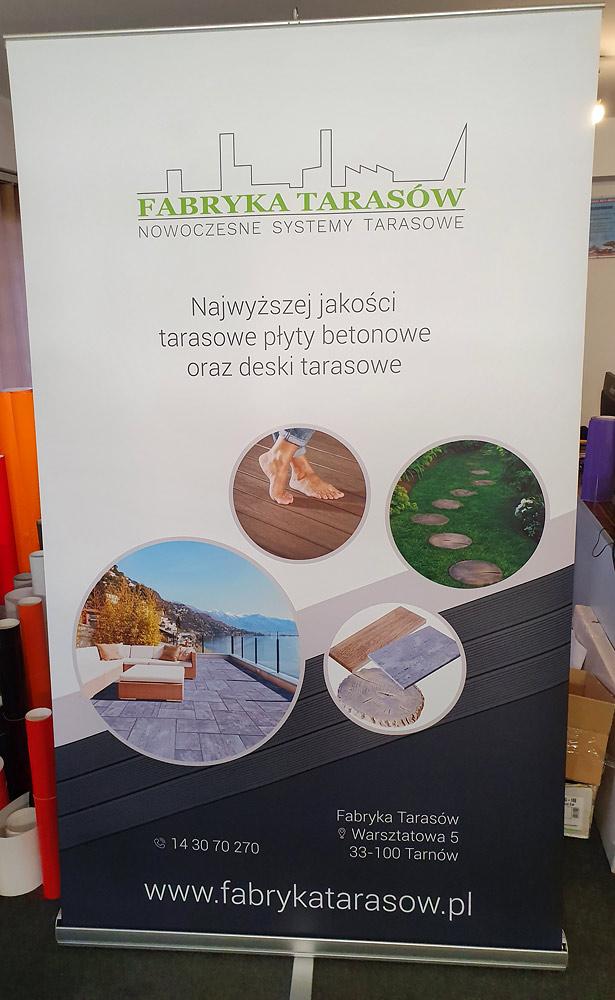 rollupy wykonane dla firmy Fabryka Tarasów