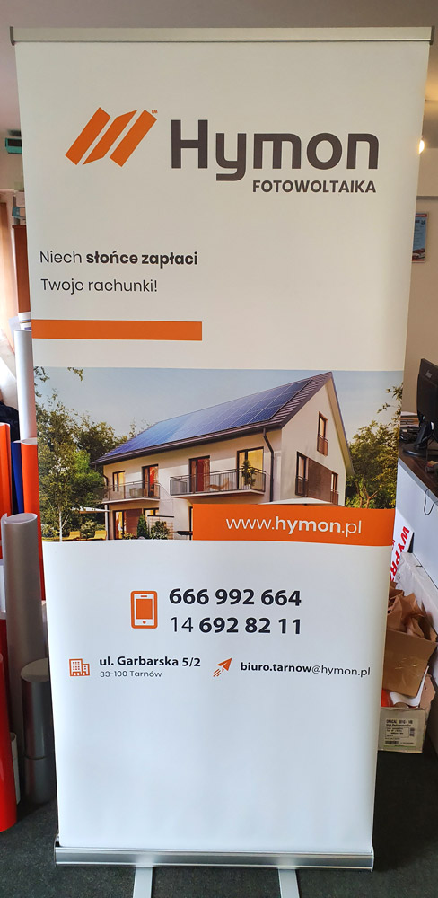 Rollup druk dla firmy Hymon Tarnów