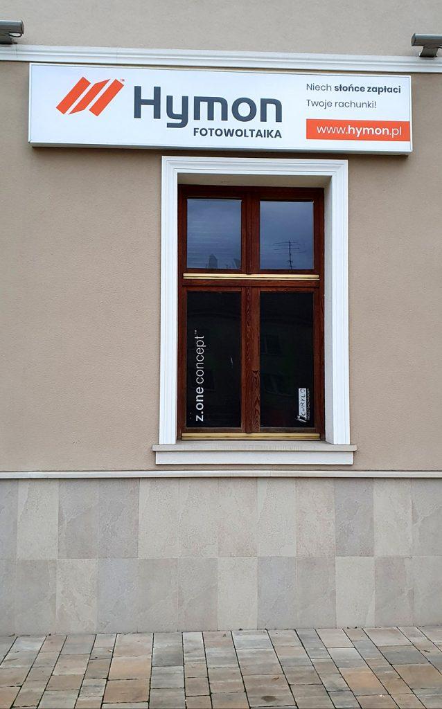 odnowienie i montaż kasetonu reklamowego dla firmy Hymon Tarnów.