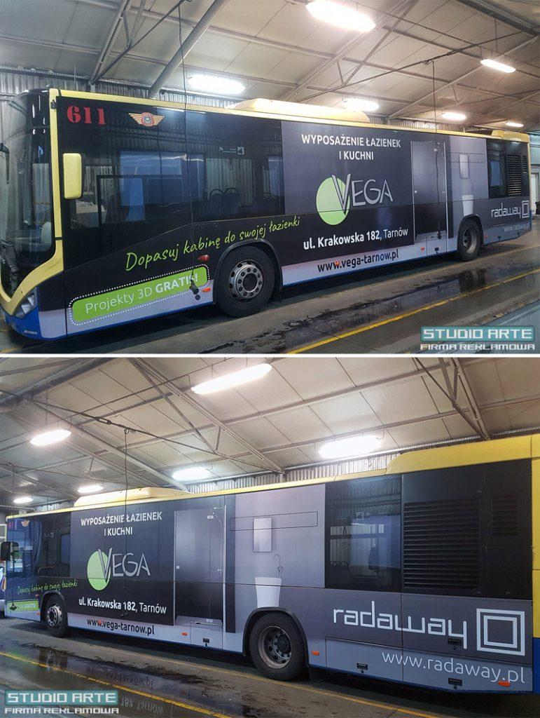 Oklejanie autobusów dla Vega Łazienki Tarnów