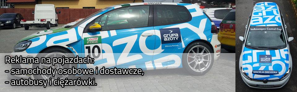 oklejanie samochodów - reklama na auto