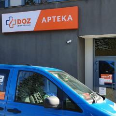 Oznakowanie aptek DOZ w Krośnie i Sanoku
