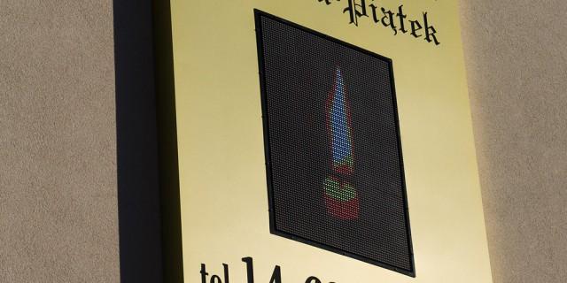 Kaseton LED z wyświetlaczem RGB
