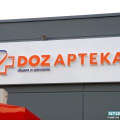 Świecące litery 3D LED dla największej sieci aptek w Polsce.