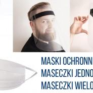 Przyłbice ochronne, maski na twarz – przyłbice medyczne.